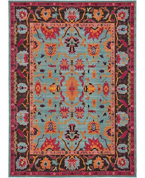 Bridgeport Home Sana San7 Turquoise Area Rug Collection