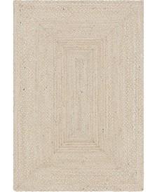 Bridgeport Home Roari Cotton Braids Rcb1 Ivory Area Rug Collection