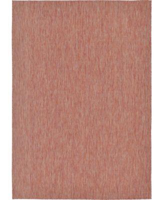 Pashio Pas6 Rust Red 5' x 8' Area Rug
