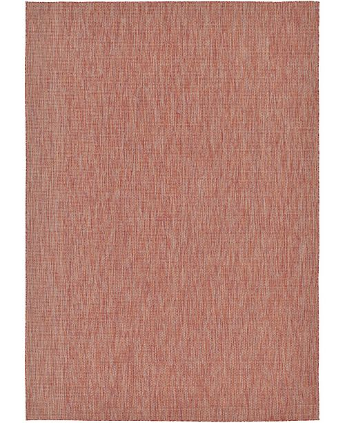 Bridgeport Home Pashio Pas6 Rust Red Area Rug Collection