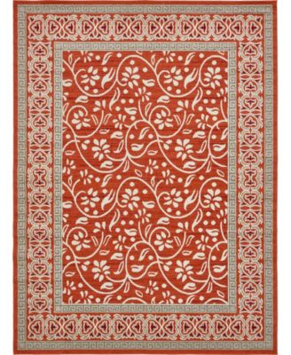 Pashio Pas3 Rust Red 9' x 12' Area Rug