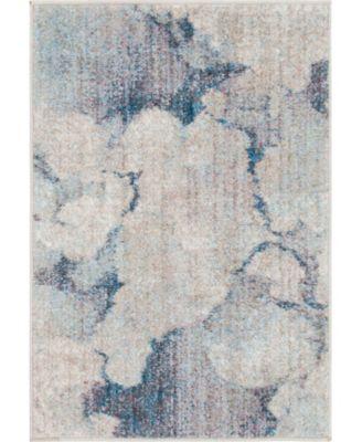 Prizem Shag Prz4 Blue Gray 7' x 10' Area Rug