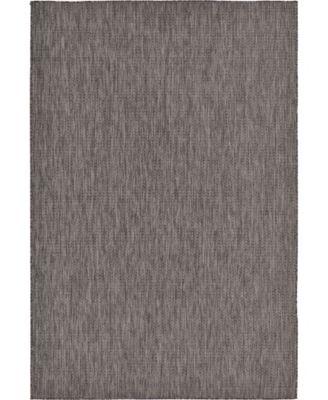 Pashio Pas6 Black 2' x 6' Runner Area Rug
