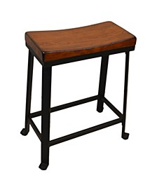 "Madison 24"" Saddle Seat Stool, Quick Ship -missing facet"