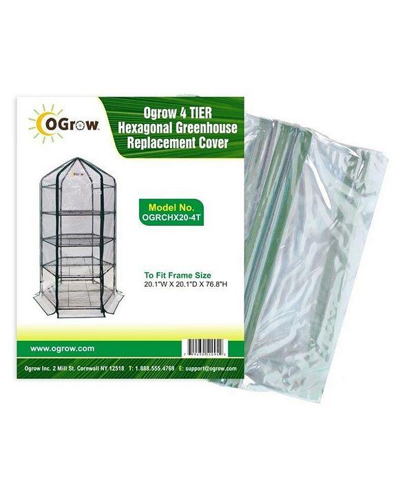 Ogrow 4 Tier Hexagonal Greenhouse Replacement Cover