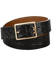 Michael Michael Kors Reversible MK-Buckle Plus Size Belt