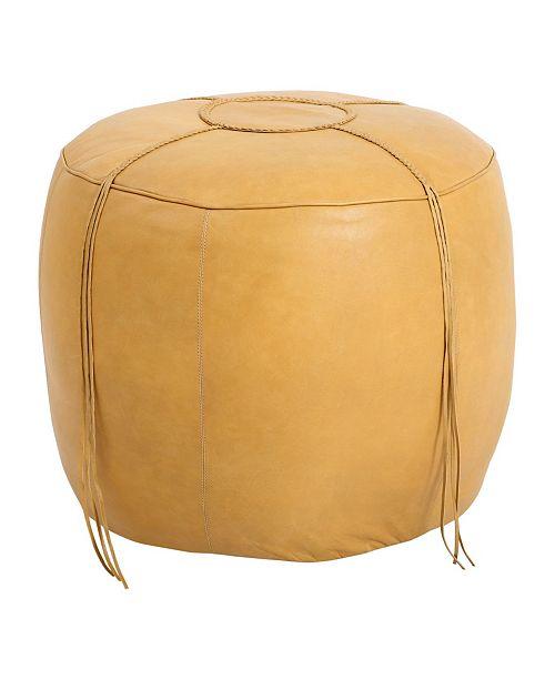 Fantastic Moes Home Collection Matteo Leather Ottoman Machost Co Dining Chair Design Ideas Machostcouk