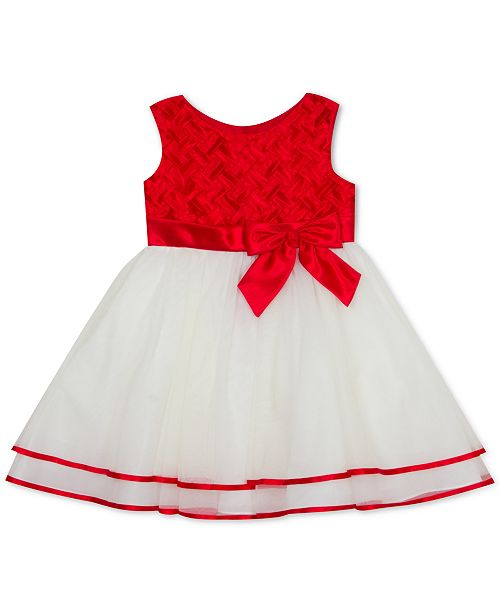 Rare Editions Baby Girls Basket-Weave Dress
