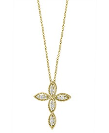 D'ORO By EFFY Diamond (1/5 ct. t.w.) Pendant in 14k Yellow Gold