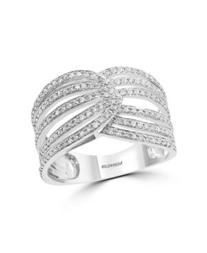 Effy Diamond (1/2 ct. t.w.) Earrings in Sterling Silver