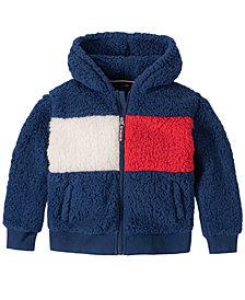 Tommy Hilfiger Big Girls Fuzzy Fleece Hooded Jacket