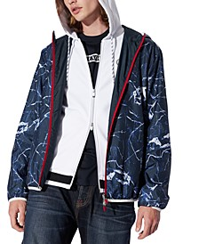 Men's Reversible Marble Windbreaker