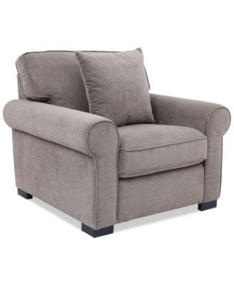"Ladlow 40"" Fabric Chair, Created for Macy's"