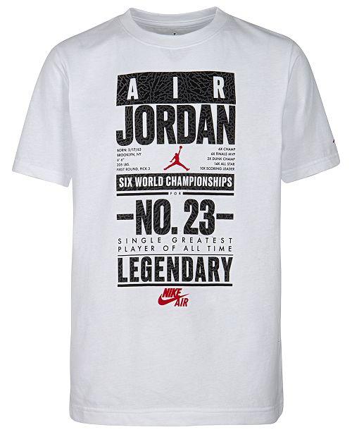 Jordan Little Boys Legendary-Print Cotton T-Shirt