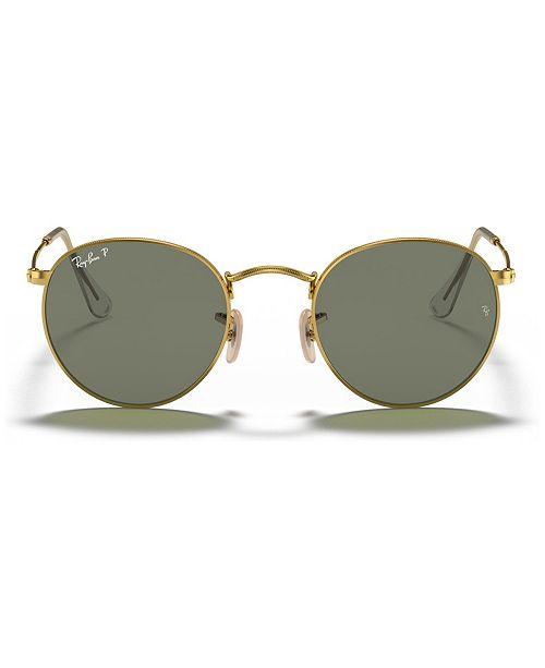 Ray-Ban ROUND METAL Polarized Sunglasses, RB3447 50