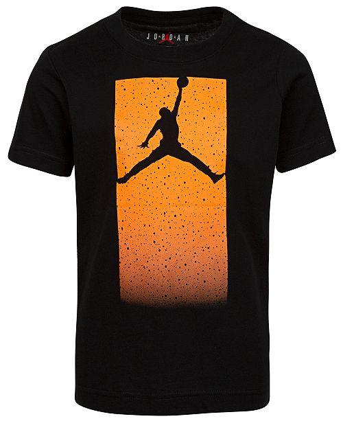 Jordan Big Boys Cotton Glow-In-The-Dark Jumpman Logo T-Shirt