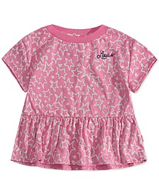 Toddler Girls Star-Print Peplum-Hem T-Shirt