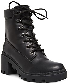 Dillan Lace-Up Lug Booties