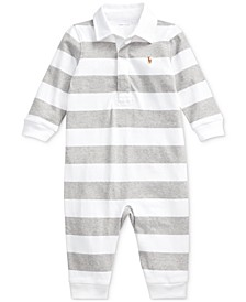 Baby Boys Rugby Jersey Coverall One Piece Coverall