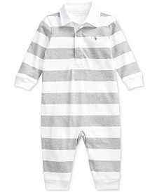 Polo Ralph Lauren Baby Boys Rugby Jersey Coverall One Piece Coverall