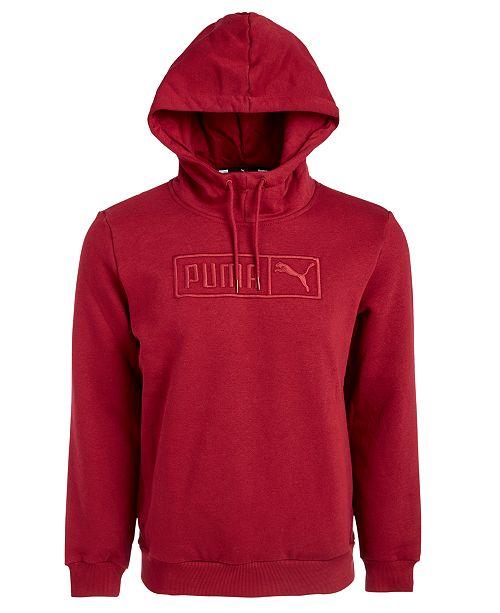 Puma Men's Embroidered-Logo Fleece Hoodie