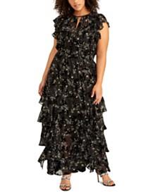 RACHEL Rachel Roy Plus Size Issa Ruffled Maxi Dress