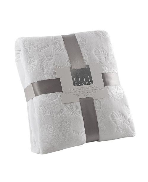 Elle Decor Leopard Palm 3D Embossed Plush Blanket - Full/Queen