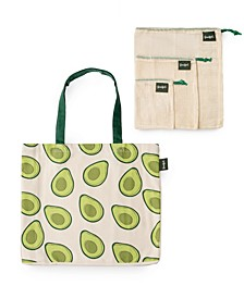Farmer's Market Reusable Bags, Set of 4