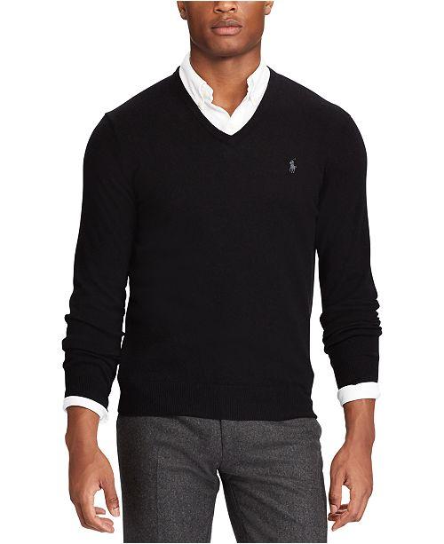 Polo Ralph Lauren Men's Big & Tall Washable Merino Wool Sweater