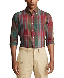Men's Plaid Cotton Twill Shirt