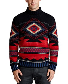 Men's Southwestern Cashmere Wool Blend Sweater