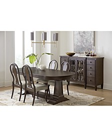 Charleston Lane Dining 5-Pc. Set (Expandable Table & 4 Side Chairs)