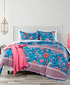 Wild Lotus Full/Queen Duvet Cover Set