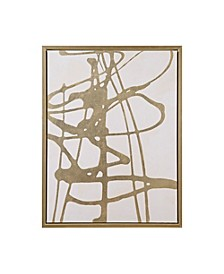 Martha Stewart Study in Gold  White Framed Canvas with Gold Foil