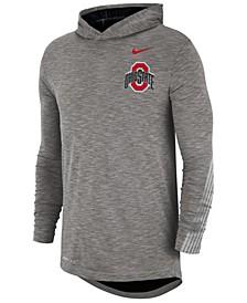 Men's Ohio State Buckeyes Hooded Sideline Long Sleeve T-Shirt