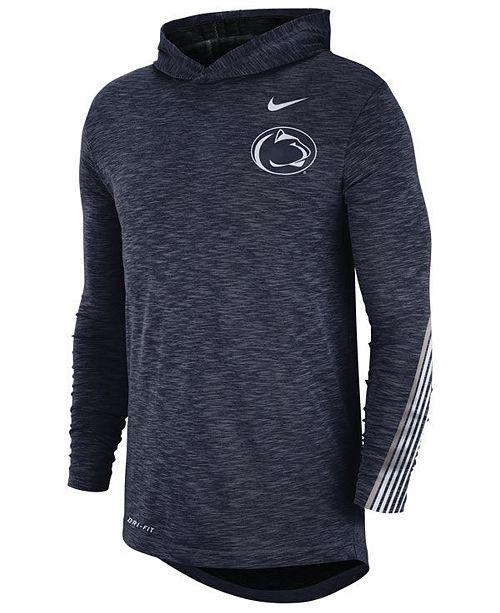 new arrival 2c44b b650d Men's Penn State Nittany Lions Hooded Sideline Long Sleeve T-Shirt