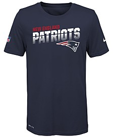 Nike Big Boys New England Patriots Sideline T-Shirt