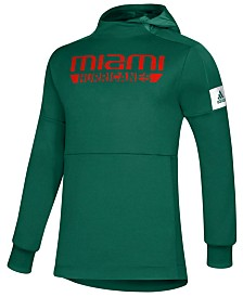 adidas Men's Miami Hurricanes Game Mode Hooded Sweatshirt