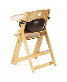 Height Right HIGH Chair Natural with Infant Insert and Tray