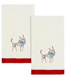 Holiday Dogs 2-Pc. Fingertip Towels