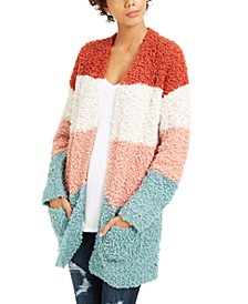 Juniors' Cozy Colorblocked Cardigan