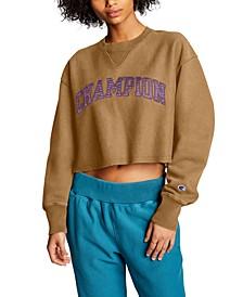 Vintage Wash Cropped Sweatshirt