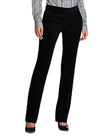 Lauren Ralph Lauren Corduroy Cotton Straight-Leg Pants