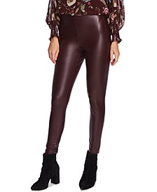 Faux-Leather Pull-On Pants