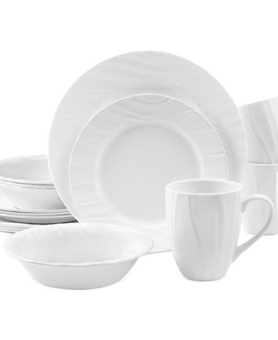 Corelle Boutique Swept Embossed 16-Pc. Set, Service for 4