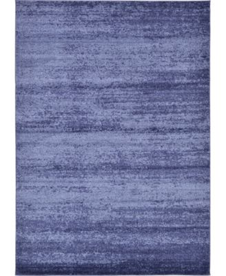 Lyon Lyo3 Navy Blue 5' x 8' Area Rug