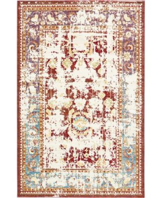 Malin Mal1 Red 6' x 6' Round Area Rug