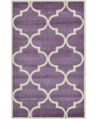 Arbor Arb3 Purple 8' x 8' Round Area Rug