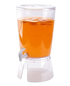 Basicwise Round Juice and Water Beverage Dispenser