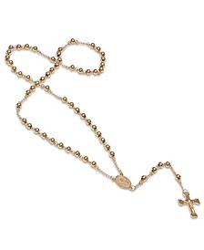 Stainless Steel 18k gold Plated Religious Classic Beaded Rosary with Necklaces